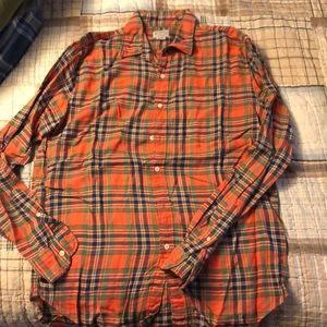 J crew woven button up.